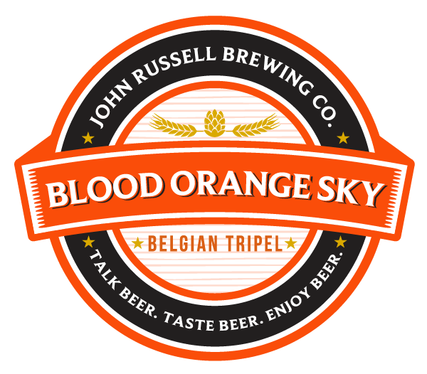 John Russell Brewing Co Label BloodOrangeSky