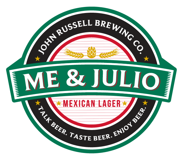 John Russell Brewing Co Label meandjulio